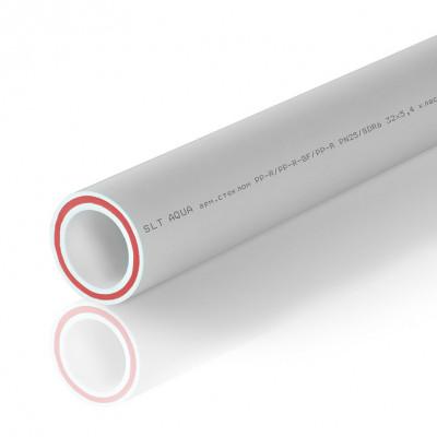Труба SLT Aqua PP-R/PP-R-GF/PP-R D63x10,5 SDR 6 (армированная стекловолокном)