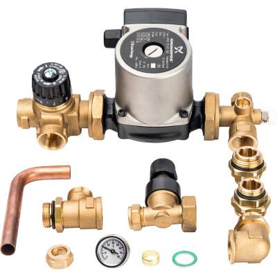 STOUT Насосно-смесительный узел с термостатическим клапаном и байпасом; Grundfos UPSO 25-65 130