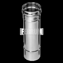 Дымоход из нержавеющей стали  1,0м (430/0,5мм)